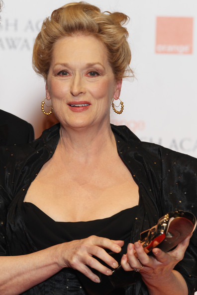 Meryl Streep Beaded Hoops