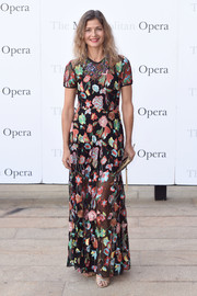 Jill Hennessy worked a floral-embroidered sheer-overlay gown at the Met Opera opening performance of 'Tristan und Isolde.'