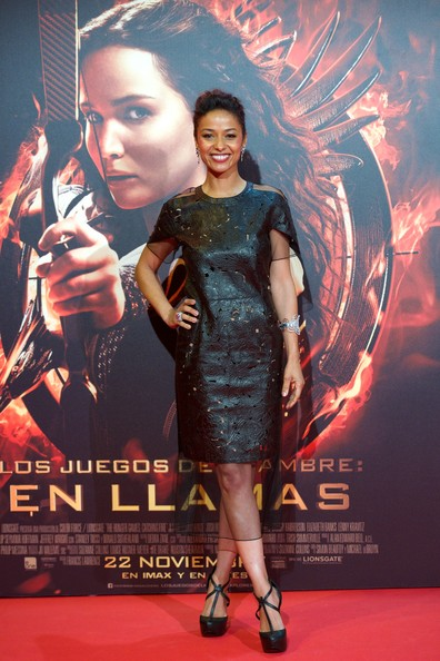 Meta Golding Leather Dress