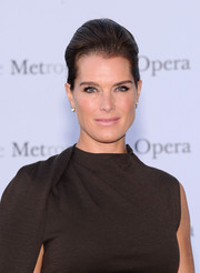 Brooke Shield swept her hair up in a sophisticated pompadour for the 'Eugene Onegin' opening.