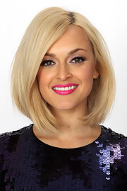 Fearne Cotton's cool, medium-length bob was perfectly coiffed when her backstage portraits were taken.