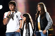 Paris Jackson's leather jacket featured cotton sleeves that gave it a cozy look.