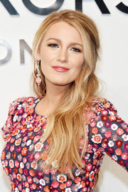 Blake Lively looked divine with her half-up waves at the Michael Kors fashion show.