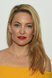 Kate Hudson wore her hair down in edgy layers during the Michael Kors fashion show.