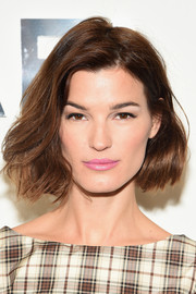 Hanneli Mustaparta styled her short hair with windblown waves for the Michael Kors fashion show.
