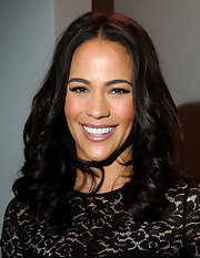 Paula Patton attended the Michael Kors fall 2012 fashion show wearing a pearly cool pink lipstick