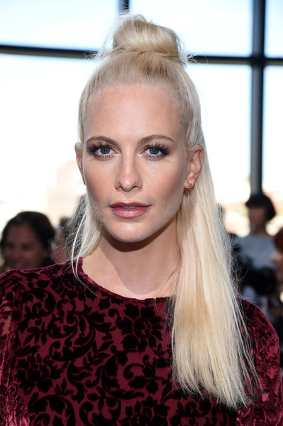 Poppy Delevingne looked adorable wearing this half-up bun at the Michael Kors fashion show.