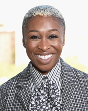 Cynthia Erivo wore her hair in a buzzcut at the Michael Kors Spring 2017 show.