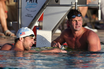 Michael Phelps Ryan Lochte Arena Grand Prix at Mesa: Day 1