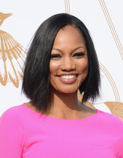 Garcelle Beauvais looked trendy with her asymmetrical cut during the LoveGold luncheon.