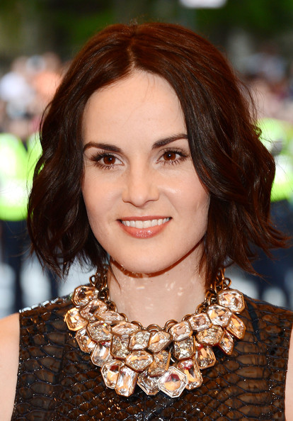 Michelle Dockery Short Wavy Cut