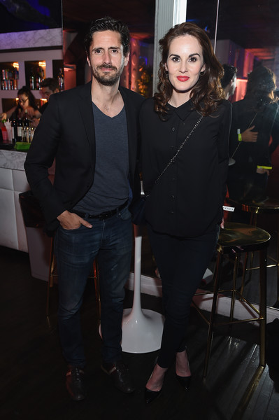 Michelle Dockery Loose Blouse [fashion,event,performance,fashion design,facial hair,fashion accessory,premiere,juan diego botto,michelle dockery,new york city,terminal 5,adult swim,l,adult swim upfront party]