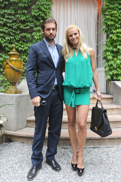 Michelle Hunziker Peep Toe Pumps
