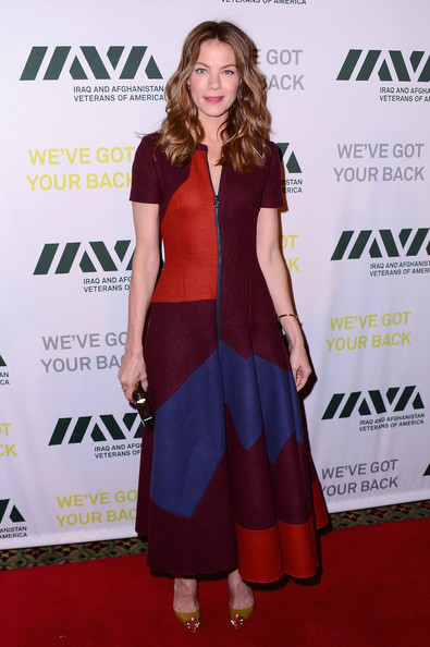 Michelle Monaghan Print Dress [michelle monaghan,iraq and afghanistan veterans of america - 10th anniversary heroes gala,clothing,red carpet,carpet,dress,premiere,shoulder,fashion,cocktail dress,fashion design,footwear,iava heroes gala - 10th anniversary,new york city]
