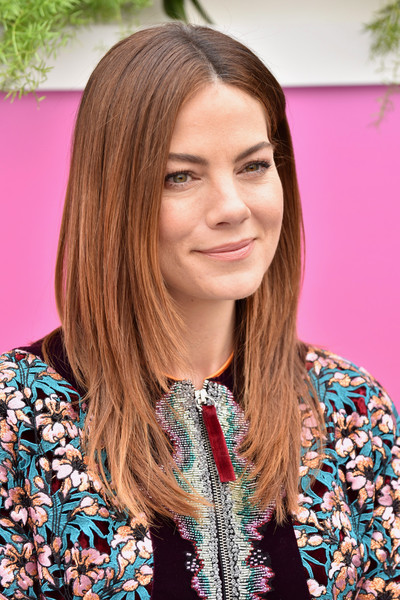 Michelle Monaghan Nude Lipstick [the path,hair,beauty,human hair color,hairstyle,blond,long hair,hair coloring,brown hair,layered hair,girl,arrivals,michelle monaghan,hulu,new york city,la sirena ristorante,hulu upfront brunch,brunch]