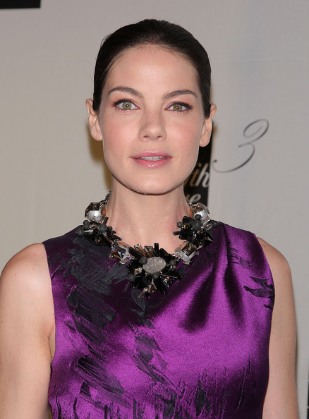 Michelle Monaghan Beaded Statement Necklace [michelle monaghan,saks fifth avenue celebrates the new third floor,floor,new york city,unveiling celebration]