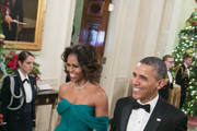 Michelle Obama Off-the-Shoulder Dress