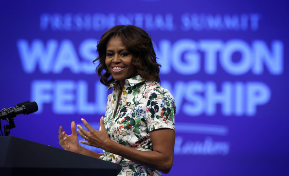 Michelle Obama Fitted Blouse