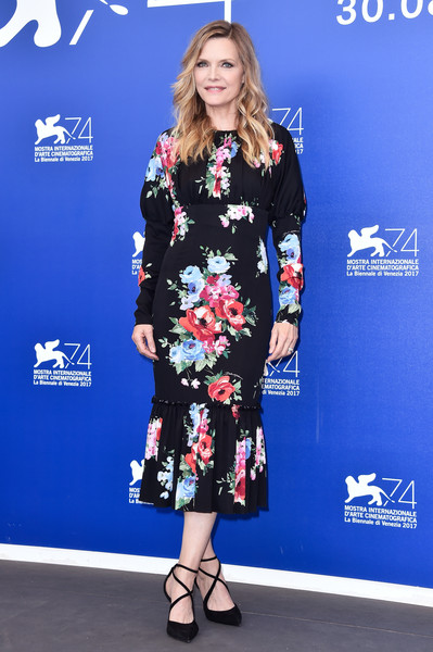 Michelle Pfeiffer Print Dress
