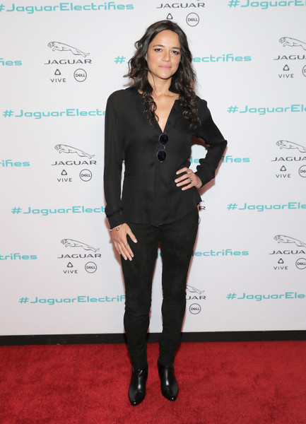 Michelle Rodriguez Leather Pants