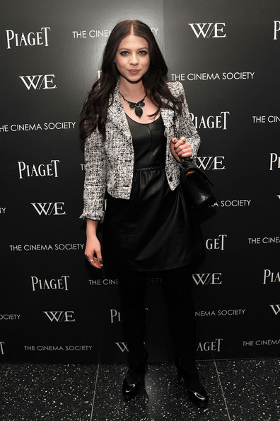 Michelle Trachtenberg Leather Dress