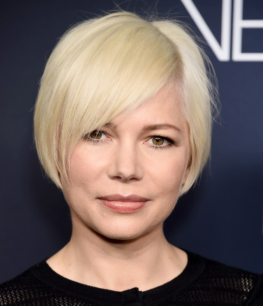 Michelle Williams Bob [hair,face,hairstyle,blond,eyebrow,chin,bob cut,bangs,head,beauty,fosse/verdon,michelle williams,beverly hills,california,samuel goldwyn theater,fyc,fx,fyc event for fx,event]