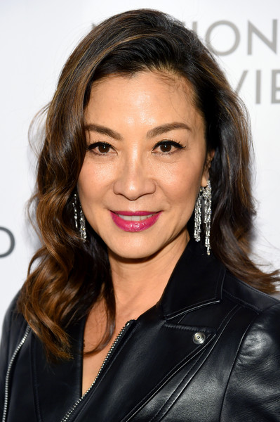 Michelle Yeoh Medium Wavy Cut [hair,hairstyle,face,eyebrow,beauty,brown hair,chin,skin,lip,layered hair,arrivals,michelle yeoh,new york city,cipriani 42nd street,national board of review annual awards gala,national board of review annual awards gala]
