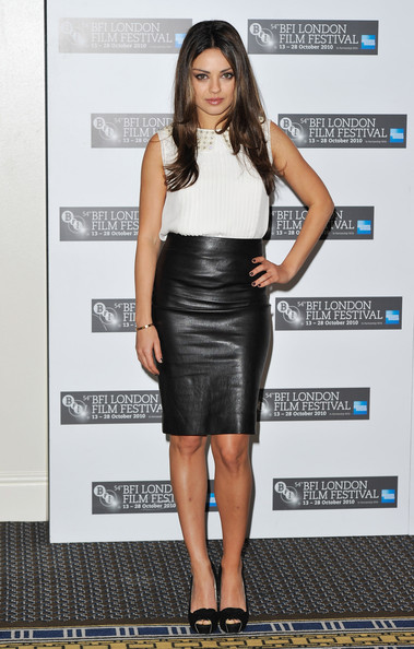 Mila Kunis Knee Length Skirt