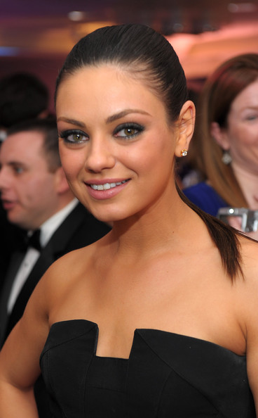 Mila Kunis Ponytail [time,hair,facial expression,hairstyle,eyebrow,shoulder,beauty,skin,smile,chin,premiere,people,mila kunis,correspondents,white house correspondents,fortune,cnn,white house,dinner cocktail party,dinner cocktail party]