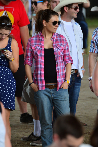 Mila Kunis Button Down Shirt