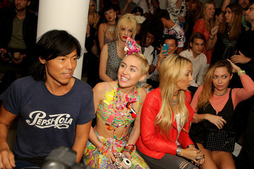 Miley Cyrus Brandi Cyrus Jeremy Scott - Front Row - MADE Fashion Week Spring 2015