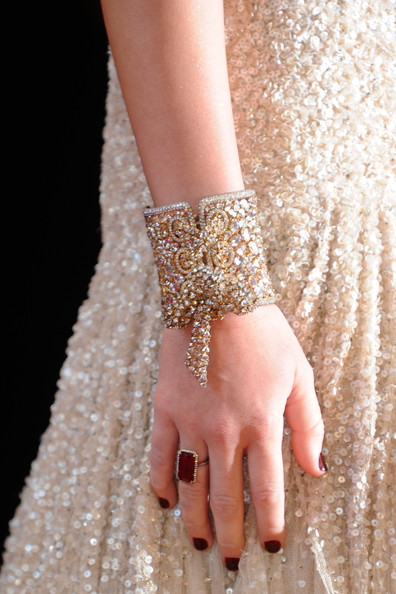 Miley Cyrus Cocktail Ring [nail,fashion,finger,manicure,hand,nail care,dress,close-up,joint,jewellery,arrivals,miley cyrus,singer,jewelry detail,california,hollywood,kodak theatre,82nd annual academy awards]