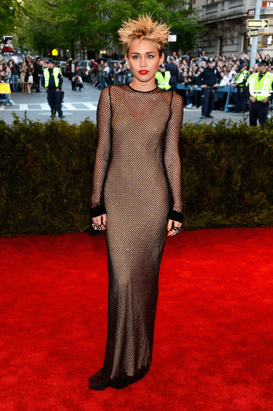 Miley Cyrus Evening Dress