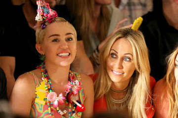 Miley Cyrus Leticia Cyrus Jeremy Scott - Front Row - MADE Fashion Week Spring 2015