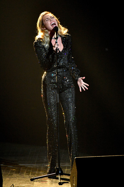 Miley Cyrus High-Waisted Pants [musicares person of the year,performance,entertainment,performing arts,singing,singer,music artist,talent show,music,event,stage,miley cyrus,new york city,radio city music hall,fleetwood mac,show]