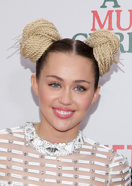 Miley Cyrus Pigtail Buns
