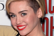 Miley Cyrus Side Parted Straight Cut