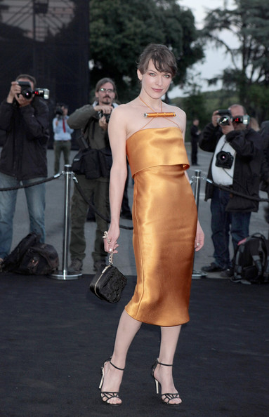 Milla Jovovich Halter Dress