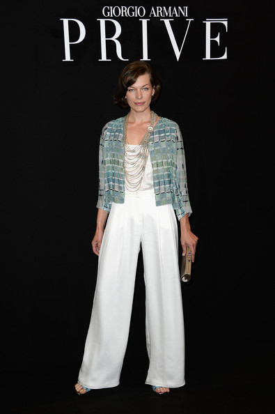 Milla Jovovich Sequined Jacket