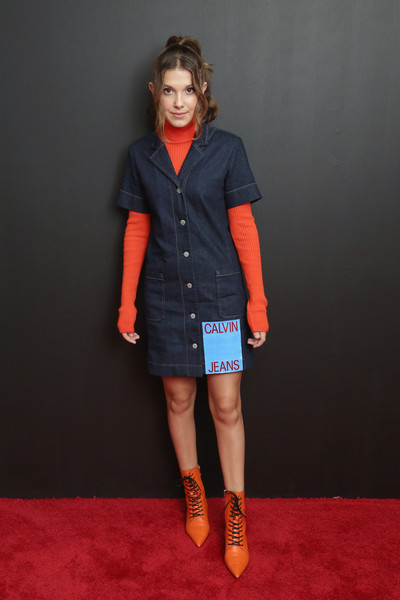 Millie Bobby Brown Denim Dress