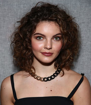 Camren Bicondova looked oh-so-cute with her voluminous curls at the Milly fashion show.