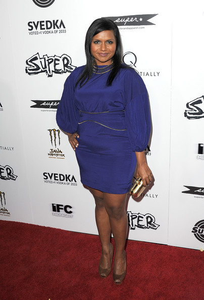 Mindy Kaling Metallic Clutch