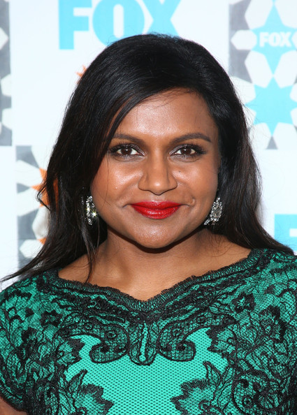 Mindy Kaling Long Side Part