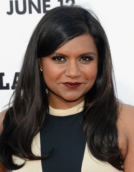 Mindy Kaling Long Straight Cut [this is the end,hair,face,hairstyle,black hair,eyebrow,layered hair,chin,long hair,beauty,forehead,arrivals,mindy kaling,california,westwood,regency village theatre,columbia pictures,premiere]