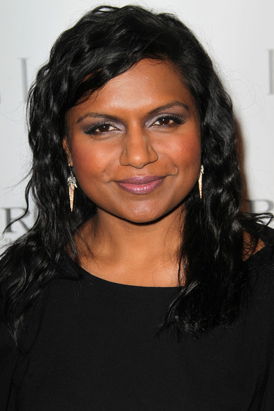 Mindy Kaling Long Wavy Cut [inaugural women in television celebratory dinner,hair,face,hairstyle,eyebrow,black hair,forehead,chin,long hair,lip,layered hair,mindy kaling,arrivals,west hollywood,california,soho house,elle,inaugural women in television celebratory dinner]