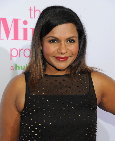 Mindy Kaling Medium Straight Cut