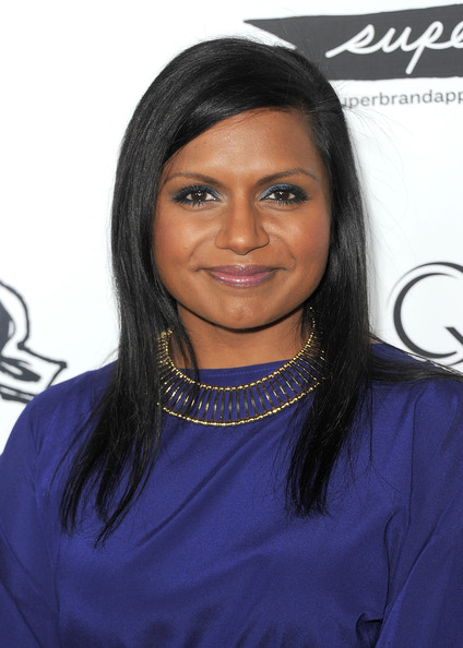 Mindy Kaling Gold Statement Necklace [hair,hairstyle,eyebrow,black hair,forehead,long hair,layered hair,lace wig,electric blue,fashion accessory,arrivals,mindy kaling,everyone,hair,hair,hairstyle,ifc midnight,office,premiere,premiere,mindy kaling,the office,is everyone hanging out without me? and other concerns enhanced edition,is everyone hanging out without me?,ghostbusters,actor,black hair,celebrity,oceans 8,helena bonham carter]