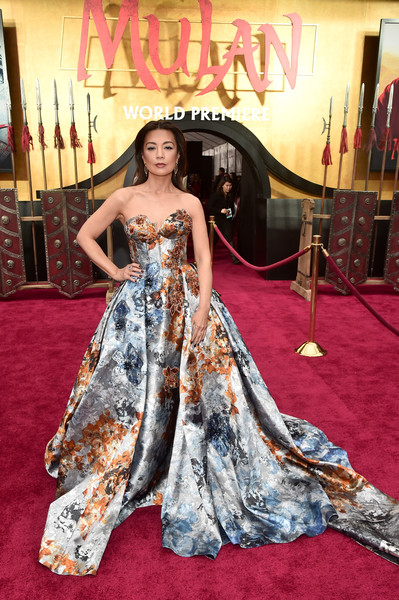 Ming-Na Wen Strapless Dress