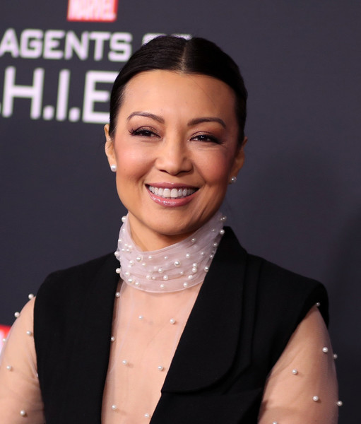 Ming-Na Wen Ponytail [marvels agents of s.h.i.e.l.d.,hair,eyebrow,beauty,hairstyle,lip,forehead,chin,cheek,smile,material property,arrivals,ming-na wen,ohm nightclub,california,hollywood,abc,episode celebration,episode celebration]
