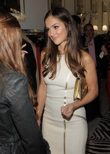 Actress Minka Kelly attends the opening of the new Michael Kors boutique on ...